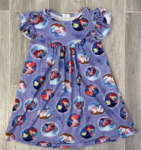 Disney Inspired Ariel The Little Mermaid Flutter Dress Size 4T *EUC*
