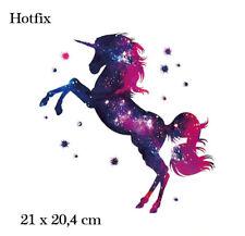 Bügelbild  Einhorn, Hotfix  21 x 20,4 cm Applikation für Ihre Textilien,