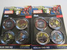 MARVEL Upper Deck Slingers Action Game- 2 X Medallion Power Pack NEW
