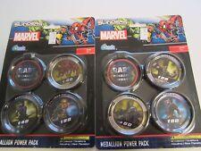 MARVEL Upper Deck Slingers Action Game- 2 X Medallion Power Pack NEW