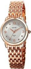 August Steiner AS8133RG Swiss Quartz Diamond Markers Rosetone Womens Watch