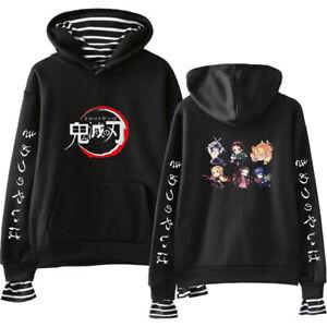 Demon Slayer: Kimetsu no Yaiba Causal Hoodie Sweater Jacket Pullover Sweatshirt