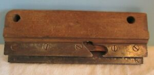 VINTAGE GROVE CUTTER  MOULDING WOOD PLANE WOODWORKING TOOL PARRY ALBANY