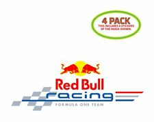 Redbull Racing F1 Team Sticker Vinyl Decal 4 Pack