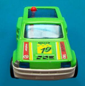 """1984 MAJOKIT 3"""" majorette pull back car - France - Turbo Oil Sport GREEN RENAULT"""