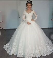 Special offer New Arrival Long Sleeves Lace wedding dress, UK custom made