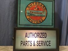 Evinrude OldLogo Outboard Boat Fishing Motor Man Cave Advertising Lighted Sign