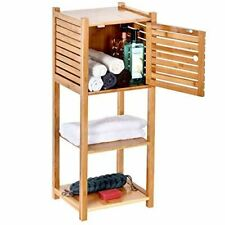 ToiletTree Products Bamboo Bathroom Storage Cabinet - Freestanding Wooden Organi
