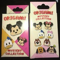 Disney Origami Mickey And Friends New & Sealed 2-Pin Mystery Box
