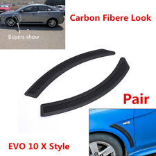 2 Pcs EVO 10 X Style Mesh PP Fender Side Vent Cover For 08-15 Mitsubishi Lancer