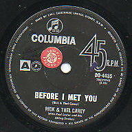 """RICK AND THEL CAREY   Rare 1963 Aust Promo Only 7"""" OOP Single """"Before I Met You"""""""