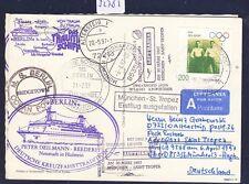 52785) LH FF MONACO-ST. Tropez France 6.4.97, cartina SP DT. BP a partire da Barbados 2