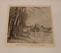 1894 magazine engraving ~ VIEW OF CHATEAU, Fountainebleau, France