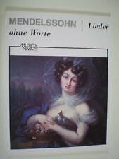 mendelssohn songs without words complete comb bound book