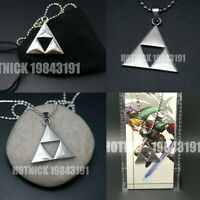 Legend of Zelda Triforce Necklace Costume Cosplay Metal Necklace  With Gift Bag