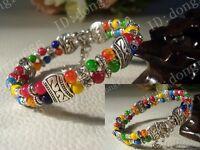 Fashion jewelry Tibet Tibetan silver ladies Lucky beads bracelet bangle AAA202