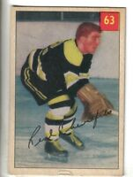 1954-55 Parkhurst Hockey Premium Card #63 Real Chevrefils Boston Bruins VG/EX.