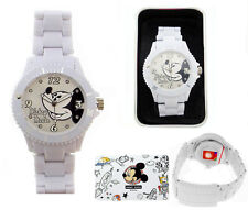 Mickey Mouse Watch with White High Tech Strap,New Collection and Crystal on Dial