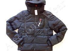 New Ralph Lauren RLX Nylon Black Hooded Winter Puffer Down Jacket sz XL