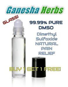 DMSO 99.99% Dimethyl Sulfoxide  Liquid Roll On GLASS BOTTLE  BUY 1 GET 1 FREE!