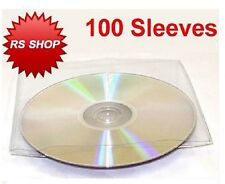 100 CD DVD DISC PLASTIC SLEEVE WALLET CASE 150 Microns