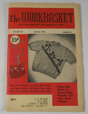 THE WORKBASKET MAGAZINE JANUARY 1956 VINTAGE PATTERNS & ADS