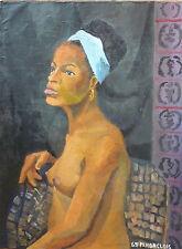 Marcel HORCLOIS (1914-2011) HsT 1965 Nu Afrique / Fauvist / Fauvism / Fauviste