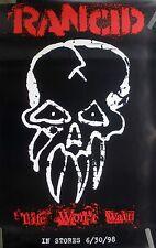 Rancid Life Won'T Wait 1998 Vintage Orig Punk Music Record Store Promo Poster