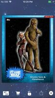 Topps Star Wars Digital Card Trader Blue Steel Ahsoka & Chewie Base 4 Variant