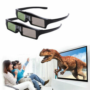 2x 3D Glasses Active For All 3D DLP Projector Optoma BenQ Acer ViewSonic Dell AU