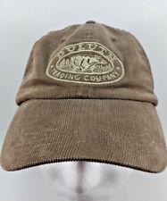 Duluth Trading Company Corduroy Strap back Cotton Baseball Dad Cap Hat Brown M/L