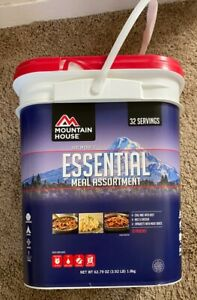Mountain House bucket Essential Meal Assortment freeze dried 32 servings