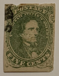 Travelstamps: US CSA Stamps Scott #1 Used Confederate Stamp, Used Ng