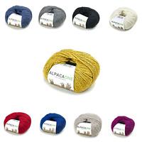♡ 100% Baby Alpaka ♡ Wolle / Garn Mützen Schals Handschuhe - Stricken / Häkeln