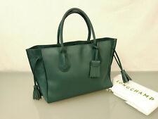 LONGCHAMP Penelope Leder Schultertasche Umhängetasche Tasche Leather Bag Grün