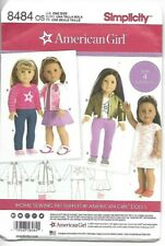 """Simplicity Sewing Pattern 8484 American Girl 18"""" Doll Pattern NEW"""