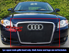 Fits Audi A4 Model only Black Stainless Steel Mesh Grille Grill-Fits 2006-2007