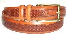 """Allen Edmonds """"WOVEN INLAY"""" Men's Dress Belt 28006 Size 36  Chili USA"""