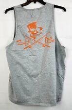 Salt Life Tank Top Skull Fishing T-Shirt Grey Men's XXL 2XL Sleeveless