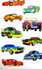 Racing Car Stickers childrens card making kids decoration labels 53882