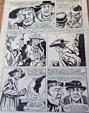 1960 F. IGLESIAS ORIGINAL ART PAGE WESTERN COMIC ED LAINEZ