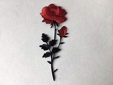 Sew on & iron on  patches(Tall Rose-red)