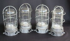 Set of 4 Matching Industrial Explosion Proof Light Fixtures (Steampunk)    FX259