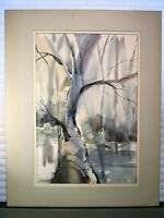 Abstract Expressionist Landscape Painting Signed Schorberg 1970s