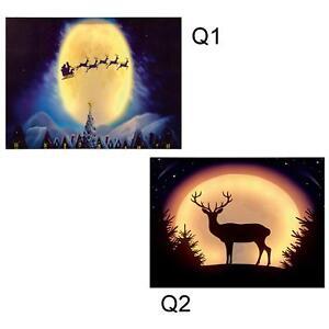 Premier Christmas Canvas Picture 40cm x 30cm Soft Glow LED - Choose Design
