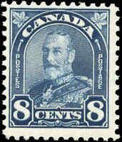 1930 Mint NH Canada F+ Scott #171 8c King George V Arch/Leaf Stamp