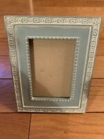Vintage Amazing Blue Color Picture Frame Without Glass 5.5x7 and 3x4.5 Inches