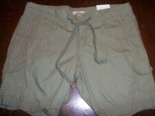 New Vintage Olive Green Long Cotton Shorts Plus Size 17 So Wear it Declare it