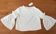 ~~ NEW!!! Mango MNG White Tiered Sleeve Top Size Medium