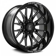 New Listing4 New 24x12 Axe Off Road Atlas Black Milled Wheels 6x55 Gmc Chevy 6x135 Ford